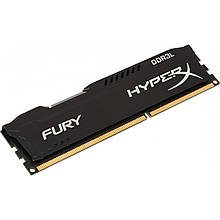 Память Kingston DDR3L 8GBB, 1866MHz, PC3-14900, HyperX Fury Black (HX318LC11FB/8)