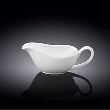 Соусник Wilmax 100 мл фарфор, Фарфоровая белоснежная чаша с ручкой для соусов