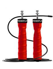 Скакалка швидкісна на підшипниках PowerPlay 4208 Червона