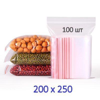 Пакеты с замком зип-лок 200х250 мм (100шт)