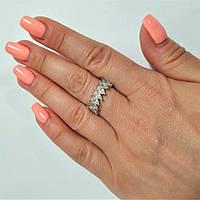 Кольцо из серебра родированное с цирконием Стэлла, фото 1