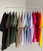 Базовая однотонная футболка (Цвета и размеры в ассортименте)