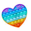Антистрес іграшка Pop It (ПОП ІТ) Серце веселка
