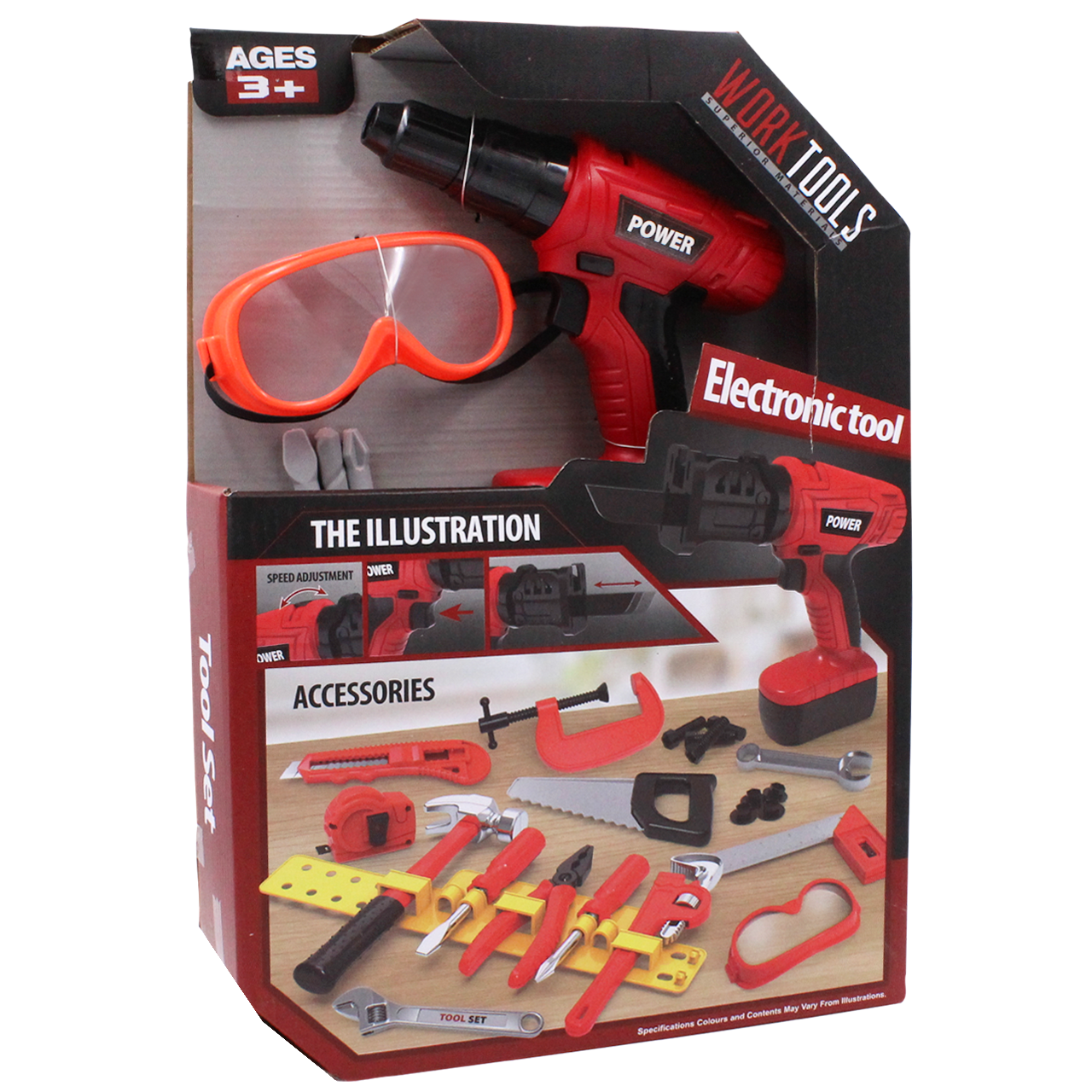 Дитячий набір інструментів з шуруповертом на батарейках 27 деталей