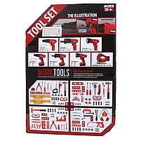 Детский набор инструментов с шуруповертом на батарейках 27 деталей, фото 2