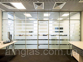 Скляні офісні перегородки Міжкімнатні та офісні скляні перегородки власне виробництво