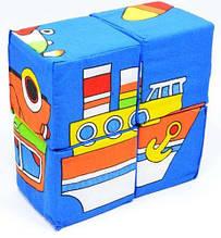 """Набор кубиков собери картинку """"Транспорт"""" 4шт"""