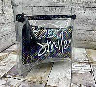 Косметичка женская 8604 Женская косметичка Smile Чёрный