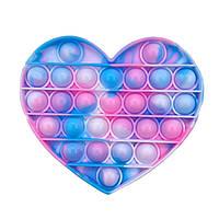 Антистресс игрушка Pop It (ПОП ИТ) Сердце Мрамор