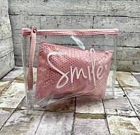 Косметичка женская 8604 Женская косметичка Smile Розовый