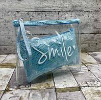 Косметичка женская 8604 Женская косметичка Smile Голубой