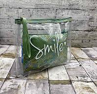 Косметичка женская 8604 Женская косметичка Smile Зелёный