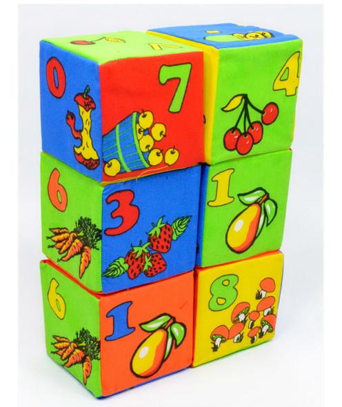 Мягкие кубики Розумна играшка Цифры математика 6 штук