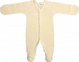 Чоловічок для новонароджених малюків Garden Baby 10780-88 Молочний ажур 62