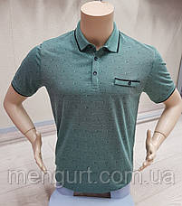 Футболка-поло мужская с коротким рукавом вискоза, фото 3