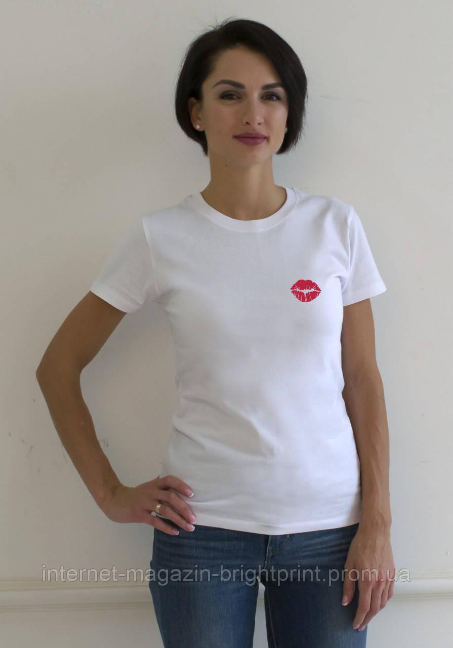 """Жіноча футболка з принтом """"Поцілунок"""""""