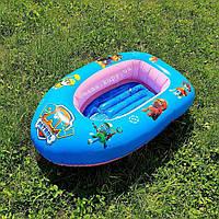 Детская надувная лодка с супергероями
