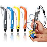 3Д ручка. 3D ручка + 50 метрів пластику. Ручка для малювання. 3д ручка для дітей, фото 4