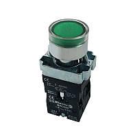 Кнопка PB2-ВW3361 (3365) зелена 22mm NO з LED підсвічуванням Electro
