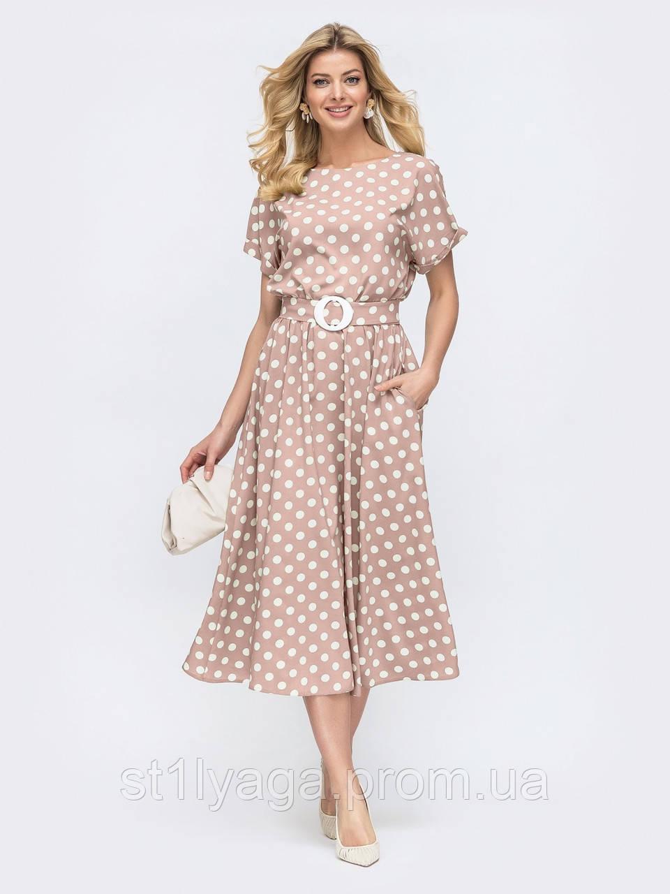 Повсякденне плаття-міді в горох ЛІТО