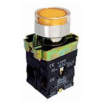Кнопка PB2-ВW3561, жовта, Ø22mm, NO, з LED підсвіткою Electro