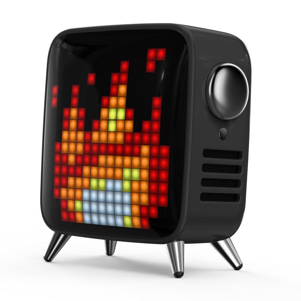 Портативна акустична система YISON TWS LED Clock WS-1  AUX/FM/BT5.0, 2*5W  Coffe