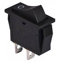 Переключатель узкий KCD3-006 ON-OFF 2-х контактный, 16A, 220V, чёрный (11-0520)