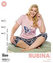 Піжами великих розмірів з капрями,Rubina 6633
