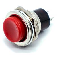 Кнопка большая PBS-26С без фиксации OFF-(ON) 2-х контактная, 2А, 250V красная