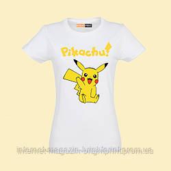 """Женская футболка с принтом """"Пикачу"""""""