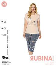 Піжама з капрями великих розмірів,Rubina 3354