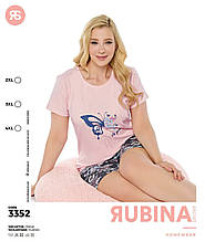 Піжама батальна з шортами,Rubina 3352