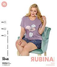 Піжама з шортами великих розмірів,Rubina 3348