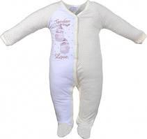Чоловічок для новонароджених малюків Garden Baby 10771-03 Молочний 56-62