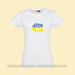 """Жіноча футболка з принтом """"Патріотка"""""""