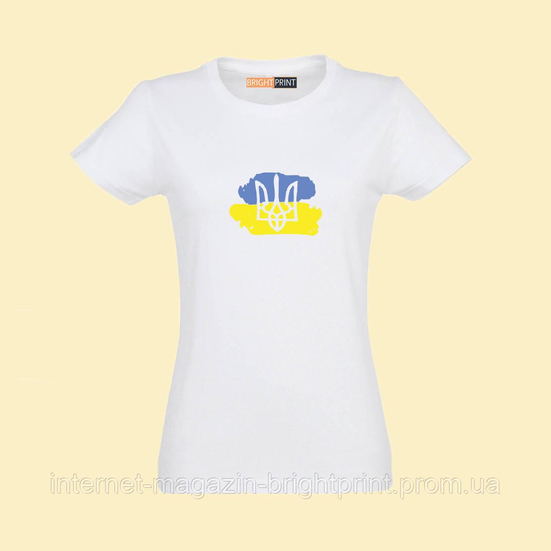 """Женская футболка с принтом """"Патриотка"""""""