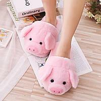 Женские тапочки с свинкой