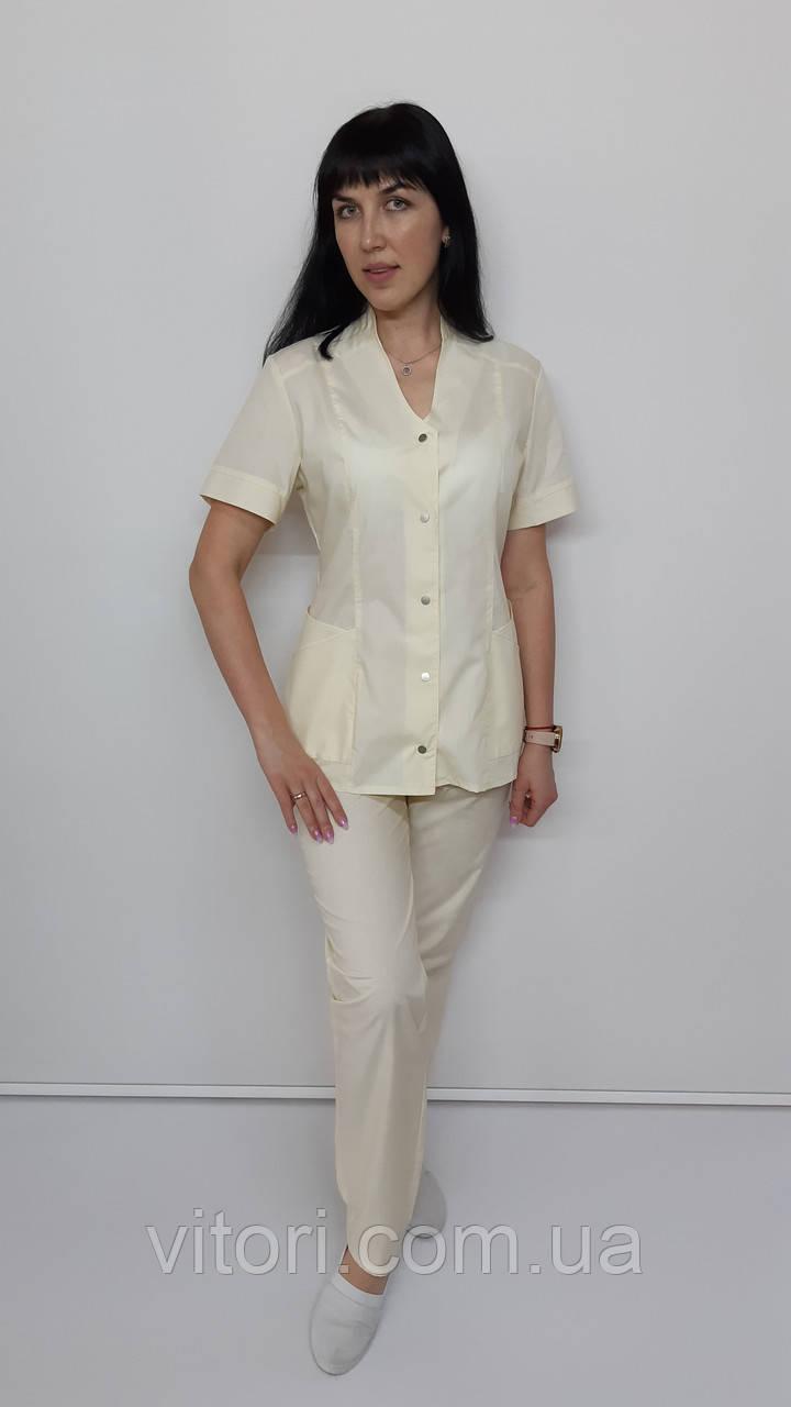 Жіночий медичний костюм Тая бавовна короткий рукав