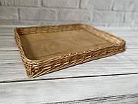 Плетёный лоток из лозы от производителя 40*50*5