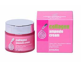 Крем для лица с коллагеном Zenzia Collagen Ampoule Cream 70ml ZE0101, КОД: 1600640