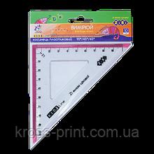 Угольник 100мм, 90°/45°, с розовой полоской, блистер, KIDS Line