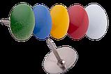 Кнопки разноцветные, 100 шт. карт. коробке, фото 2