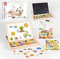 Детская интерактивная деревянная доска Fun Game (75039) для рисования, с магнитами с мелом и маркером