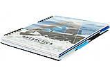 """Блокнот """"World Heritage"""", B5 (170х205), пласт. обл., спіраль, з роздільниками., 120 л., клітина, фото 2"""