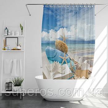 Тканинна шторка для ванни і душа 180х200 см Maldives
