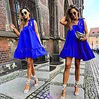 """Сукня жіноча полубатальное з воланом, розміри 48-54 (6кол)""""AFINA-2"""" купити недорого від прямого постачальника"""