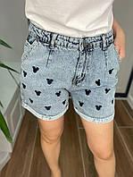 Женский джинсовые шорты Микки-Маус размер 30