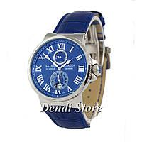 Часы Ulysse Nardin Maxi Marine ААА Blue/Silver/Blue