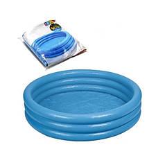 Бассейн надувной детский 114х25 см Синий Intex 59416