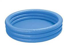 Бассейн надувной детский 168х38 см Синий Intex 58446